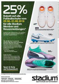 Stadium, 25% Rabatt auf alle Fußballschuhe  für Hamburg